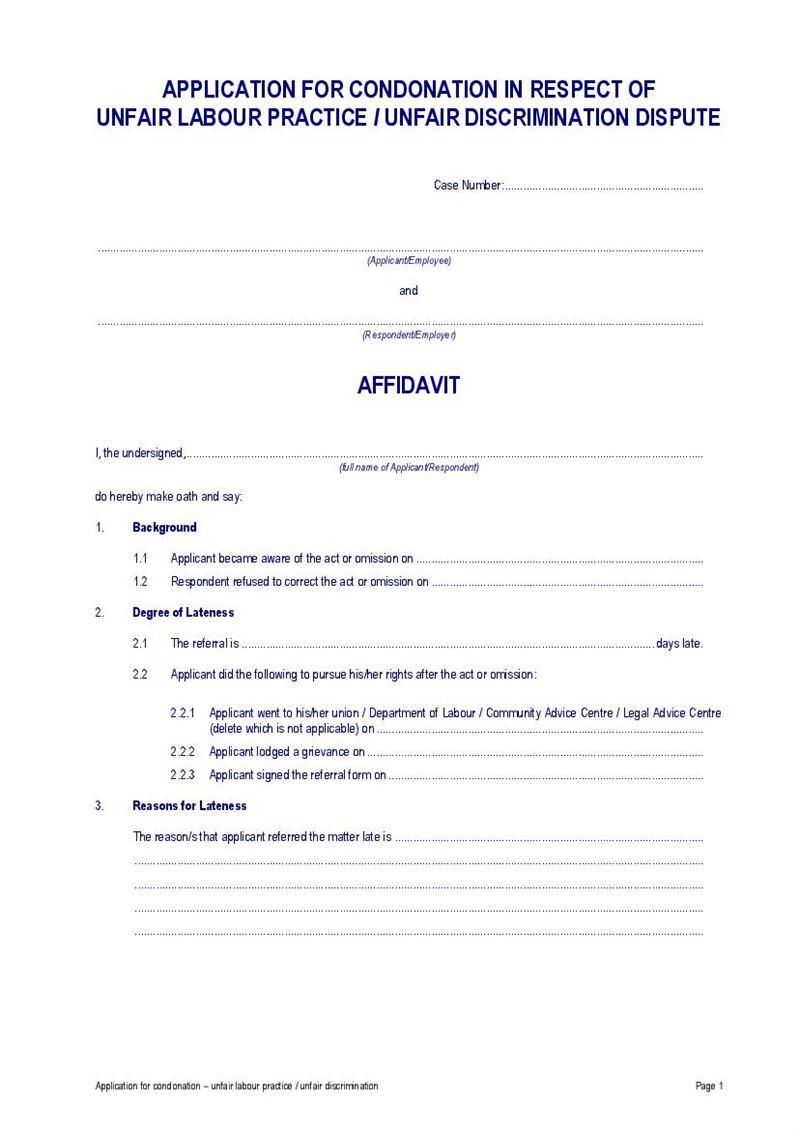 Condonation Application Unfair Labour Practice Ccma