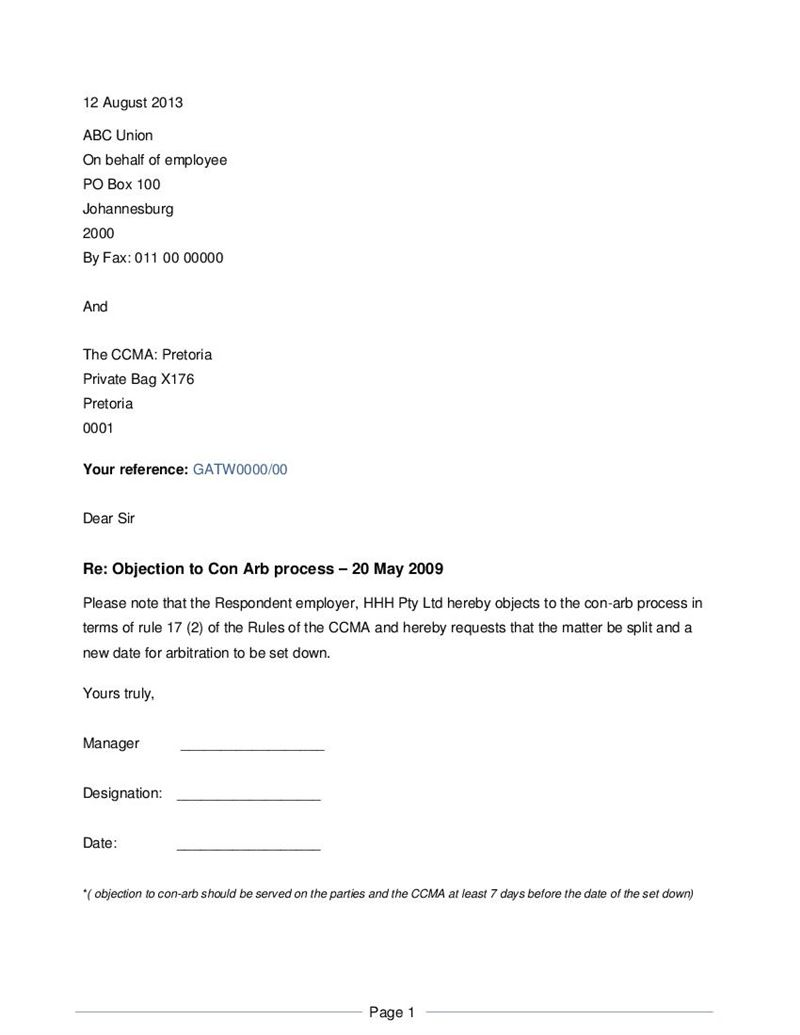 2973 Objection Letter Template on template 1028a, county annexation,